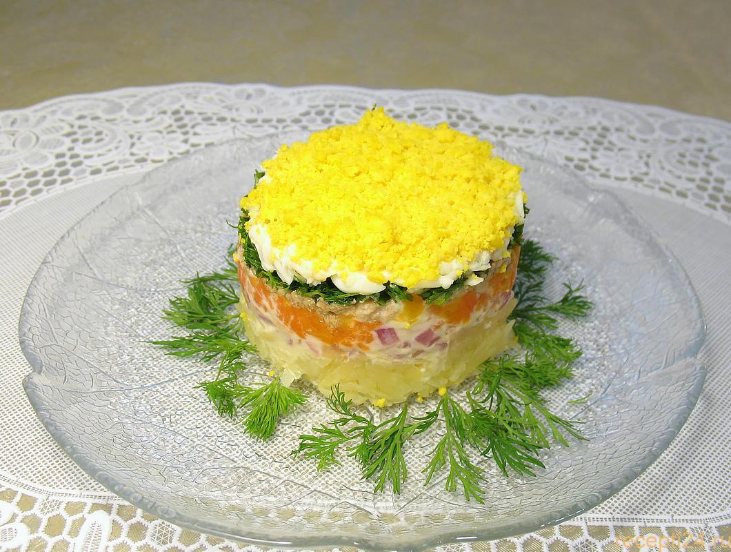 Салат мимоза нежный рецепт с фото