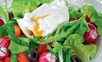 Редис с перцем и зеленью