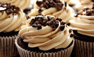 Кексы с горьким шоколадом