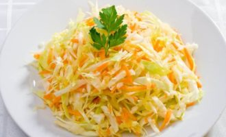Салат из капусты, как в столовой рецепт