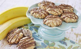 Рецепт домашних овсяных печений с бананом