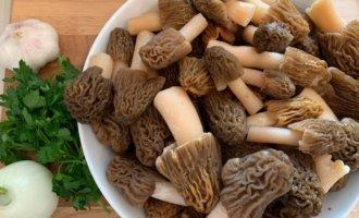 Как жарить грибы сморчки