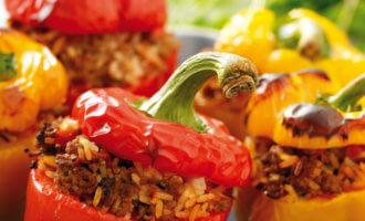 Сколько варить фаршированный перец