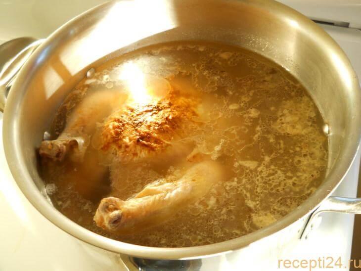 Сколько варить куриный бульон
